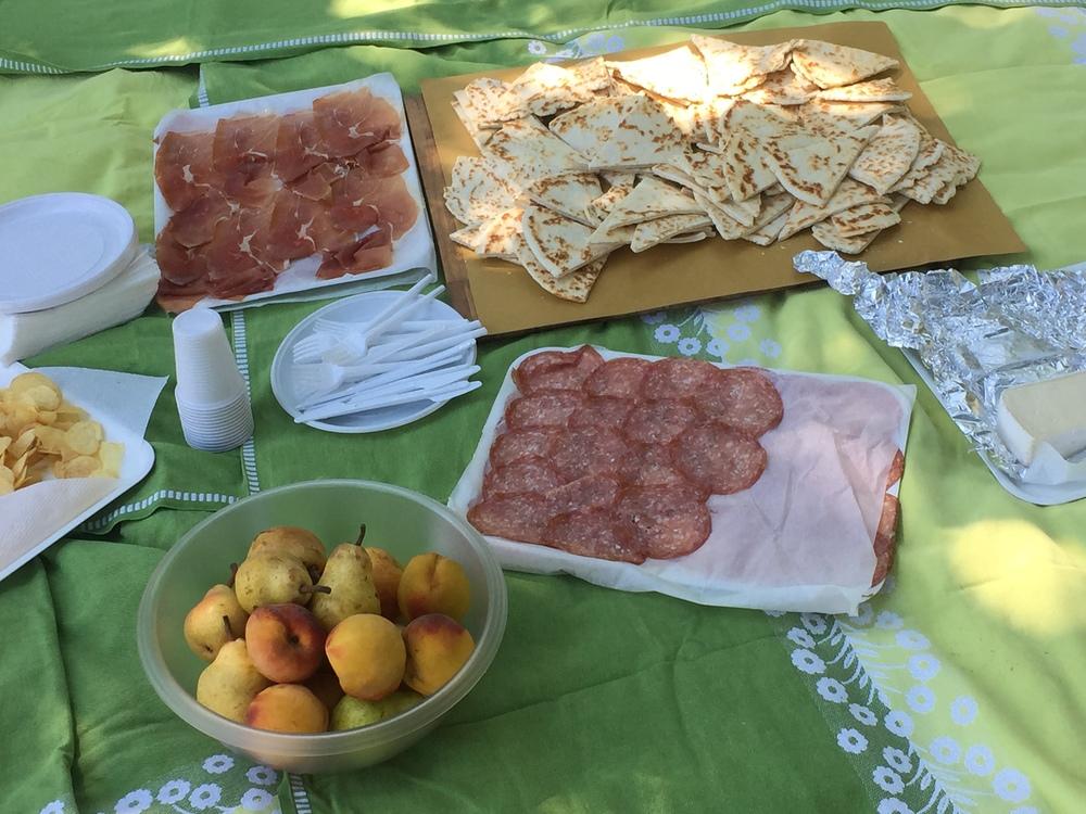 Our picnic in Santarcangleo